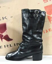 Damenstiefel Silke Boots 60er TRUE VINTAGE 70er Stiefel UK 4,5 bottes snow black