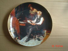 Knowles American Fine China THE LOVE LETTERS By Norman Rockwell