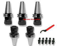 5PC CAT40 ER32 PRECISION COLLET CHUCK FIT ON HAAS FREE PULL STUD TENTH ACCURACY