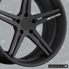 x4 Premium Mercede Benz AMG Logo Vinyl Alloy Wheel Decals - Stickers
