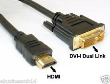 3M GOLD HDMI TO DVI-I 24+5 Pin CABLE V1.3 VIDEO HDTV DVD LCD BLUE RAY 1080P