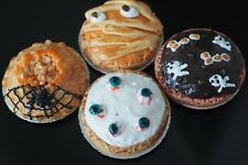 1:12 DOLLHOUSE MINIATURES 4 HALLOWEEN PIE BAKERY FOOD SUPPLY NIGHT PARTY NEW