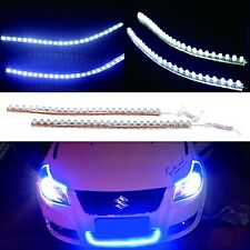 "2x White 24 LED Flexible Waterproof Strip Light 9"" 24cm Car Auto Grill Lamp Bulb"