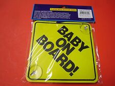 New ! 2PK BABY ON BOARD Plastic Plates w Stay-Put Suction Disks for Cars Van SUV