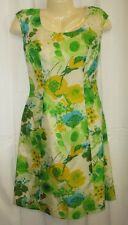 VTG 60s/70s 12 Hawaiian Dress Tabak Of California Silky Floral Lined Union Made