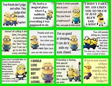 MINION QUOTES 12  PHOTO FRIDGE MAGNETS