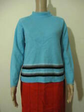 Marks & Spencer M&S St Michael Womens Jumper, Pale Blue Striped, Size 10