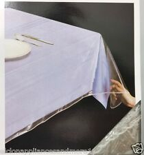 "RL PLASTICS TABLE CLOTH PROTECTOR CLEAR GLASS VINYL TABLECLOTH 60"" X 90"" OBLONG"