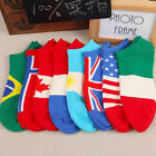 Womens Mens Ankle Socks Low Cut Crew Casual Sport Color Cotton Socks 1 Pairs