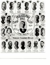 WORLD CHAMPIONS 1911 1912 PHILADELPHIA ATHLETICS A'S 8X10 TEAM PHOTO  BASEBALL