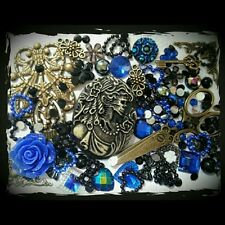 Vintage/gothic/macabre Lolita themed Decoden kit. Embellishments,cameo,cabochons