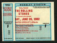 1982 Rolling Stones J Geils unused full concert ticket Wembley London Tattoo You