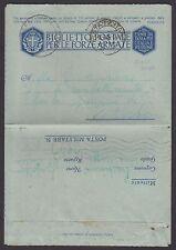 POSTA MILITARE 1942 Biglietto da PM 68 per Viterbo (FMB)