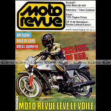 MOTO REVUE N°2519 BETA 80 125 200 TRIAL MF 650 CAGIVA 125 WMX GP SAN-MARIN 1981