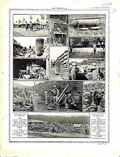 Poilus Artillerie Projectiles Obus Casemate Fusils Lance-Grenades Canon 1916 WWI