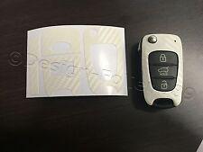 Carbon Weiß Folie Schlüssel Hyundai z.B.: i10 i20 i30 ix35 ix20 Elantra