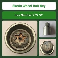 "Genuine Skoda Locking Wheel Bolt / Nut Key 779 ""X"""