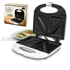 NON STICK TOASTIE MAKER SANDWICH MACHINE PANINI PRESS HEALTH GRILL GRIDDLE WHITE