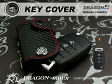 Leather Keyfob Holder Case Chain Cover FIT For KIA pro_cee'd Rio 4 GT venga 163B