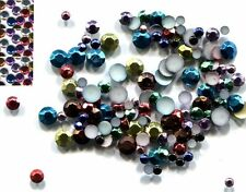 720 Rhinestuds Faceted Metal MIXED COLOR 2mm HotFix 5 gross