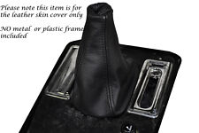 BLACK STITCHING FITS JAGUAR XJS 1975-1996 LEATHER MANUAL GEAR GAITER ONLY