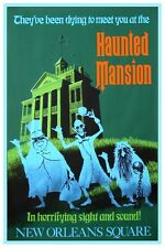 "DISNEY COLLECTOR'S POSTER 12"" X 18""  - DISNEYLAND - HAUNTED MANSION GREEN"