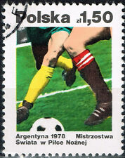 Poland Football Soccer Championship Argentina World Cup stamp 1978