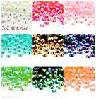 2000pcs 2,3,4,5,6MM Jelly drill beads flat back Scrapbooking Resin RHINESTONE