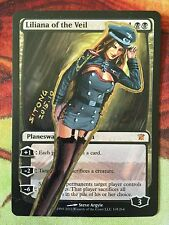 MTG ALTERED ART HAND PAINTED LILIANA OF THE VEIL SEXY ARMY UNIFORM BY SITONG