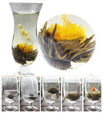 10ps Handgefertigter China Grün Tee Kugel Blooming Tea Blumen Teeblume Zufalls