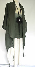 beautiful LUUKAA /D'CELLI LINEN BLEND LONG COAT  SIZE XL/XXL