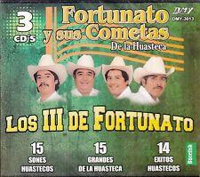 Fortunato Y Sus Cometas De la Huasteca Los III De Fortunato 3CD Boxset New