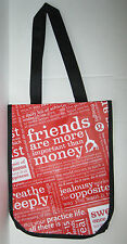 Lot of 9 Lululemon Reusable Small Tote Bags Manifesto Red