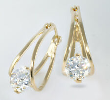 2 ct tw Birdcage Earrings Top Russian CZ Imitation Moissanite Simulant Vermeil