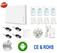 Smart Wireless GSM SMS Home House Security Alarm System Smoke Gas Detector APP