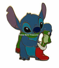 DISNEY Pin LE 250 - Stitch & Christmas Stocking Stuffer Frog - Disney Mall Japan