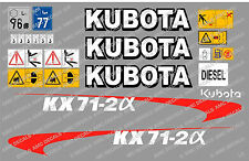 KUBOTA KX71-2A MINI ESCAVATORE DECALCOMANIA SET