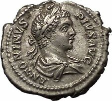 CARACALLA 206AD Rome mint Silver Ancient Roman Coin Mars War God Rare  i52315