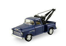 Kinsmart 1955 Chevy Stepside 3100 Pickup tow truck 1:32 diecast car Blue K117