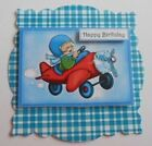 PK 2 HAPPY BIRTHDAY KIDS PLANE EMBELLISHMENT TOPPERS FOR CARDS AND CRAFTS