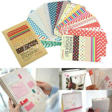 27PCS Washi Scrapbook Masking Stickers Tape Craft Pack Decorative Labelling Fine