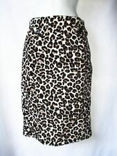 NEW H&M LEOPARD Print Skirt Curvy Pencil Black Black Ivory Womens Size sz 8 m