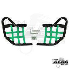 KFX 400 KFX400 Kawasaki   Nerf Bars  Alba Racing Black bar Green nets  206 T1 BG