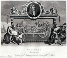 William Hogarth: Hudibras di Samuel Butler: Frontispiece. Steel Engraving. 1850