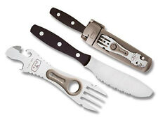 Buck TravelMate Kit Knife Spreader Fork Bottle Can Opener w/ Sheath 0941BRS1VP