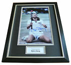 Bjorn Borg Signed FRAMED Photo Autograph 16x12 Display Tennis Champion & COA