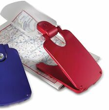 LED Red Foldable Pocket 2X Magnifier/Book Light