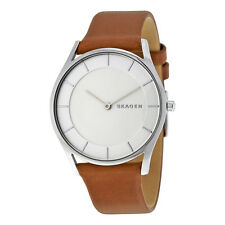 Skagen Holst White Dial Ladies Leather Watch SKW2453