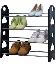 Deemark Stackable 12 Pairs Shoes Rack Shoes Organizer Stand Light Weight