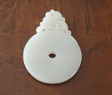 Nice  Hand  Carved  Chinese  White  Jade  Pendant